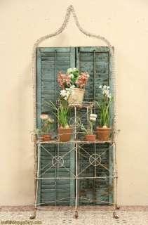 Victorian 1890s Antique Wire Garden Plant Stand