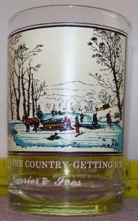 1981 Arbys Collector Glass Currier & Ives Getting Ice