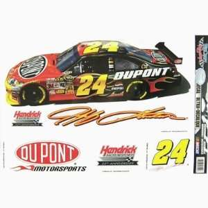 JEFF GORDON REMOVABLE CAR TRUCK WINDOW WALL DECAL SET (4