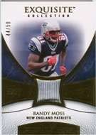 2007 Upper Deck Exquisite Collection Patch Gold Randy Moss /50