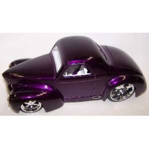 Scale Diecast Dub City 1941 Willys Coupe in Color Purple: Toys & Games