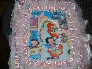 BABY BETTY BOOP FABRIC PHOTO ALBUM BLUE OR PINK