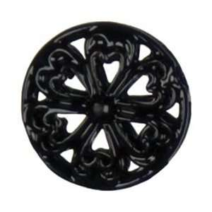 Cousin Jewelry Basics Metal Beads 6/Pkg Black Round; 3