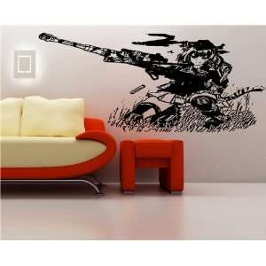 Decal Stickers Anime Girl with Rifle GUN Shots S6902