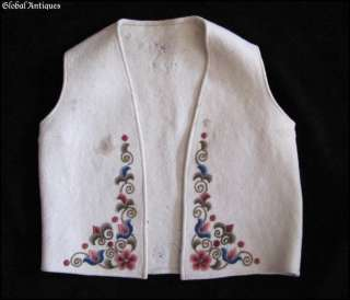 19C. BALKAN FOLK COSTUME HAND EMBROIDERED LADIES VEST