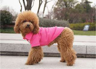 High quality XS L Small Dog Pet Coat Polo Tshirt Apparel Costume