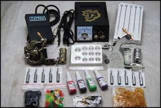 Complete Tattoo Kit 2 Machine Gun Power Ink Set D53 1