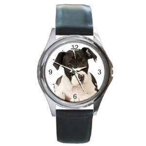 Staffordshire Puppy Dog Round Leather Watch CC0015 Everything Else