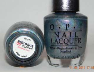 DS HOLOGRAPHIC ~ SAPPHIRE ~ DESIGNER SERIES NAIL POLISH LACQUER DS 010