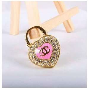 Pink Colored Crystal Double Heart Style USB Flash Drive Electronics