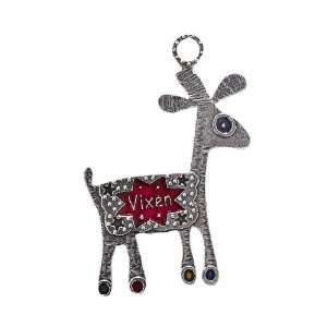 Tin Woodsman Pewter Vixen Reindeer Christmas Ornament