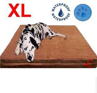 DOG PET BED EXTRA LARGE 40X35X4 MEMORY FOAM Suede Cover and