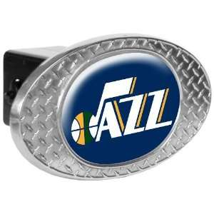 Utah Jazz Metal Diamond Plate Trailer Hitch Cover Sports