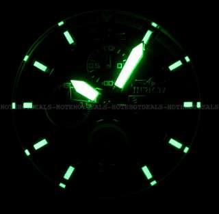 Mens Diver Scuba Chronograph Blue Dial Gold Tone Steel Bracelet Watch