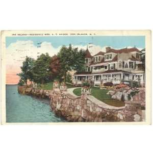 Ina Island   Residence of Mrs. A.T. Hagen   1000 Islands, New York