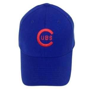 CHICAGO CUBS ROYAL FLEX FIT HAT CAP SMALL MEDIUM