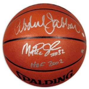 Kareem Abdul Jabbar and Magic Johnson Dual Autographed