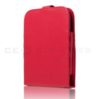Barnes Noble Nook 2 2nd Red Leather Case Cover Stand