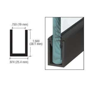 CRL Black Powder Coat Wet Glaze 1 1/2 Deep U Channel 240