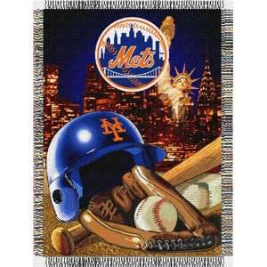 New York Mets Major League Baseball Woven Tapestry Throws