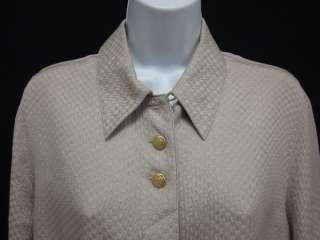 STARINGTON Beige Button Up Long Sleeve Silk Blouse Sz 6