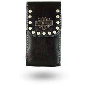 Harley Davidson Black Leather Pouch Electronics