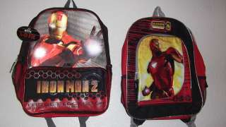 NEW BACKPACK BOOK BAG MARVEL IRON MAN 2 THE MOVIE PICK