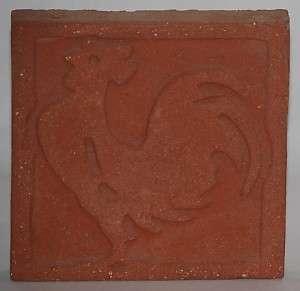 Grueby Pottery Terra Cotta Rooster Tile