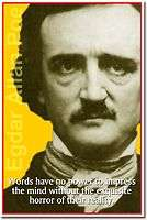 Edgar Allan Poe   Words have no power American AUTHOR New