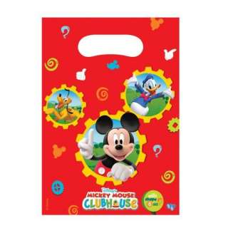 Mickey Mouse Clubhouse Party   Mickey Mouse Party Loot Bags x 6 £1.69