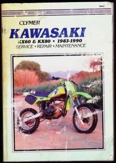 Kawasaki KX 80 100 250 450 KX250 KX450 workshop manual