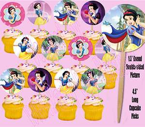 Snow White Disney Princess Assorted Images 1.5 Cupcake Picks Cake