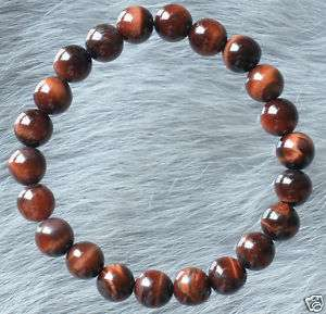 Red Tiger Eye Beads Tibet Buddhist Prayer Mala Bracelet