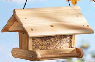 New Wooden Bird House Feeder Hanging Pine Wood Birdhouse Birdfeeder