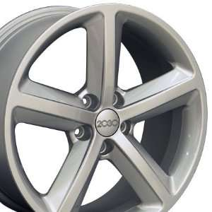 A5 Style Wheel Fits Audi   Silver 18x8: Automotive
