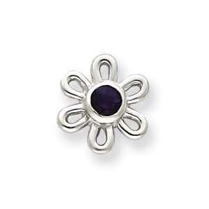 Sterling Silver Amethyst Flower Earrings Jewelry