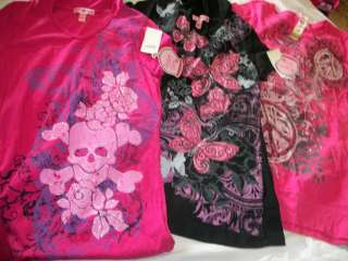 NWT NEW GIRLS LOT OF 3 PEACE BUTTERFLYS SKULL WITH HOODS SCHOOL