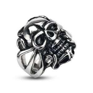 Steel Evil Skull Rider Ring   Size 12 West Coast Jewelry Jewelry
