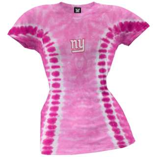 New York Giants   Logo Ladies Tie Dye T Shirt