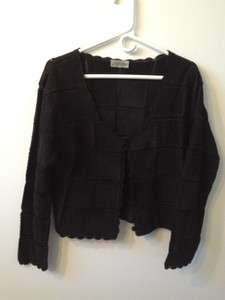 Versatile black suede leather jacket top Fits Womens Medium