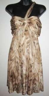 NEW bebe Womens Animal Print Cocktail Dress M NWT 1721
