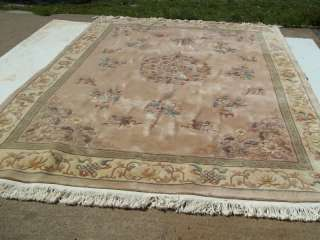 12 Hand Knotted wool rug made in China/ very plush