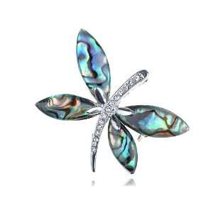 Adorable Vintage Inspired Abalone Butterfly Insect Crystal