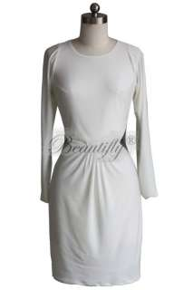 Sleeves Spandex Evening Cocktail Mini Prom Gown Party Womens Dress