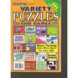 Games (Orange Cover) (Over 295 Puzzles, March 2012) Various Books