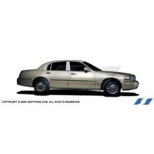 98 10 Lincoln Town Car SES Trims Chrome Pillar Post Trim Automotive