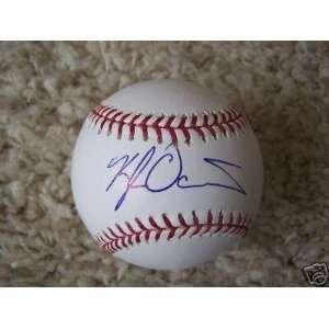 Kyle Davies Braves Signed Ml Baseball   Autographed Baseballs