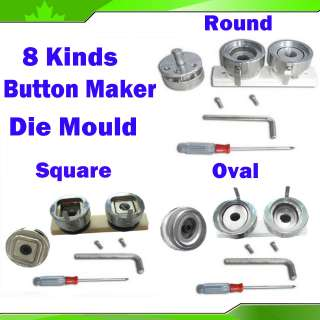 Mould Replaced to Badge Button Maker Machine Round Oval Square