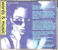 KARYN WHITE RARE PROMO WORDS & MUSIC SAMPLER CD 1991