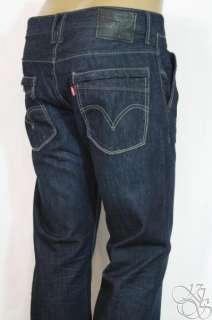 LEVIS JEANS 527 Boot Cut Straight Fit Dark Blue Denim Mens Pants New